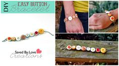 Make a button bracelet in 5 minutes or less with this Video DIY from Saved By Love Creations