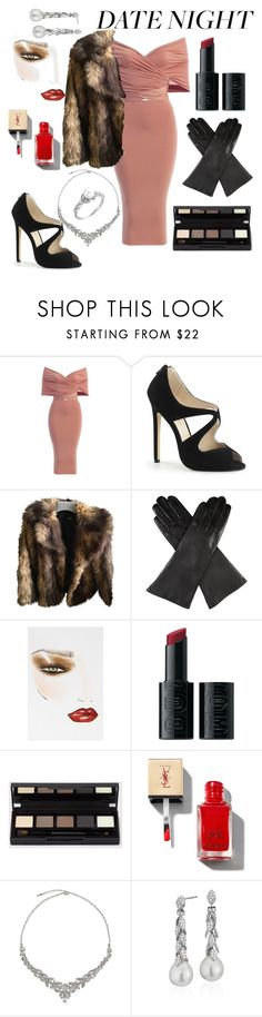 """Sexy night out"" by barbara-lancianese ❤ liked on Polyvore featuring ASOS, Dents, Charlotte Tilbury, Buxom, John Lewis and Blue Nile"