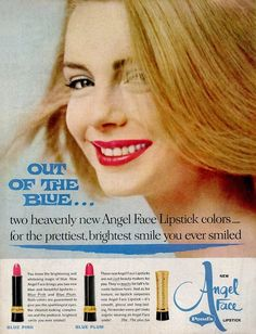 Pond's Angel Face Lipstick Ad, 1962