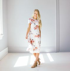 We love this new summer dress with the cutest floral pattern! (Also available online!)