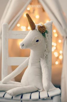 The Wonder-filled Unicorn Plush by DaintyCheeksBoutique on Etsy
