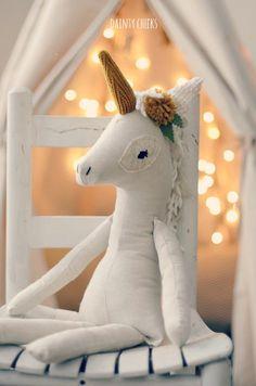 The Wonder-filled Unicorn Plush by DaintyCheeksBoutique on Etsy