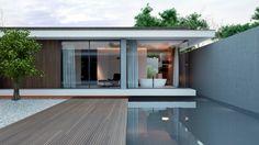 Villa in kubusvormige stijl