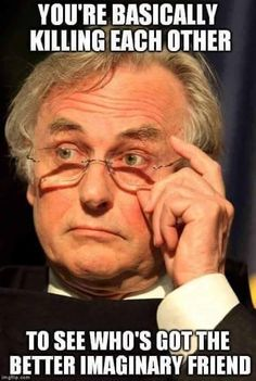 Richard Dawkins speaks a lot of sense Atheist Agnostic, Atheist Quotes, Atheist Humor, Secular Humanism, Richard Dawkins, Free Thinker, Thought Provoking, Thoughts, Words