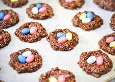 No Bake Chocolate & Peanut Butter Robin's Nest Cookies