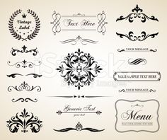Vintage Vector Decorative Ornament Borders and Page Dividers royalty-free stock vector art