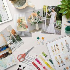 Praktische Farbchips zum Downloaden und Ausschneiden, mit denen Sie im Handumdrehen ihre Hochzeitsfarben definieren.