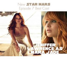 star wars episode 7 characters | New Star Wars Episode 7 – Best Cast: Jeniffer Lawrence as Mara-Jade
