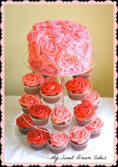 rose cupcake tower - Google Search