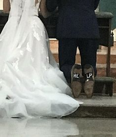 Grooms shoes at my friends Catholic wedding
