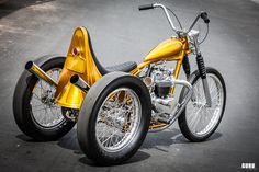 The Conquistador , 1967 Triumph Pre Unit Trike by Ryan Mullion (fro. Custom Moped, Custom Paint Motorcycle, Custom Trikes, Custom Choppers, Custom Motorcycles, Custom Cars, Chopper Motorcycle, Bobber Chopper, Motorcycle Cover