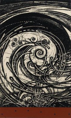 """spinning wind...etching by Takahiko Hayashi"""