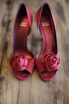 maroon red bridal shoes