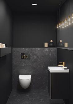 53 Interior Bathrooms That Will Inspire You This Winter - Home Decor Ideas Washroom Design, Bathroom Design Luxury, Modern Bathroom Design, Modern Toilet Design, Small Toilet Room, Small Bathroom, Bathroom Beach, Guest Toilet, Downstairs Bathroom