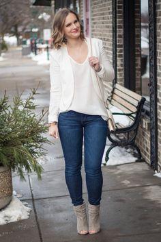 Whtie on White Spring Outfit Idea #Fashion