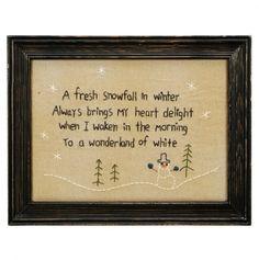 Fresh Snowfall Stitchery