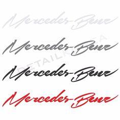 Detailkorea Car Full Name Decal Sticker (3 Size) for #Mercedes_Benz  #Benz #DETAILKOREA #Car_Decal