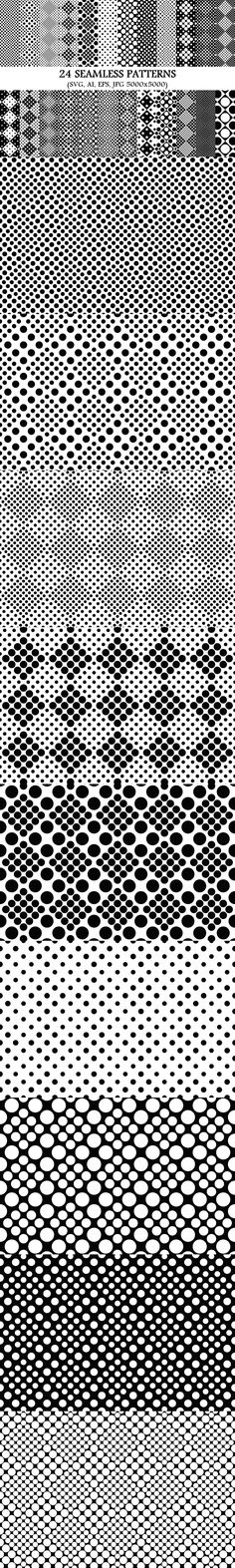 24 Seamless Dot Patterns #BackgroundGraphics #CheapVectorPattern #AbstractDesign #seamlesspattern #seamlesspatterns #BackgroundCollection #PremiumVector #BackgroundDesign #purplebackgrounds #BackgroundBundle #BackgroundCollection #GeometricPattern #PremiumVectors #mandalabackgrounds #DiscountPatterns #seamlesspattern #mandala #MandalaArt #floralgraphics Polka Dot Background, Geometric Background, Background Patterns, Dot Patterns, Graphic Patterns, Vector Pattern, Pattern Design, Monochrome Pattern, Pattern And Decoration
