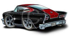 1965 1966 1967 AMC MARLIN Cartoon Tshirt Rambler #9281 cartoontees vintage auto