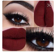 Beautiful Lips &eye Makeup #Beauty #Musely #Tip