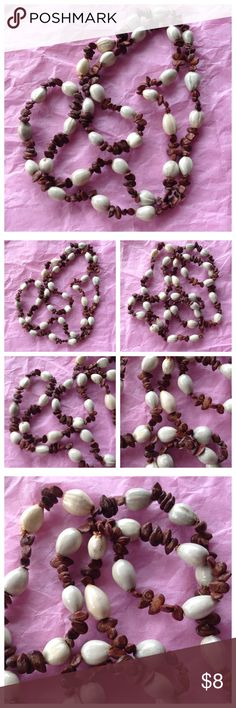 """Super Nice Bead Shell Design Necklace Super nice necklace! Shell look beads. 15"""" long or 30"""" total. Looks new. Boutique 9 Jewelry Necklaces"""