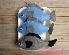 Felt Pretend Play Food Fish/ Fish felt/ Food set/ Fake fish/
