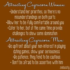 Attracting capricorn woman