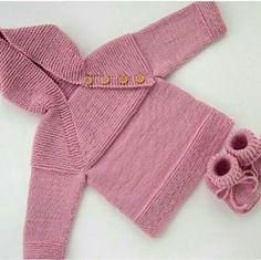 Items similar to MADE TO ORDER/ Baby set, hand knitted baby sweater with hood and baby booties/ Merino wool on Etsy Knit Baby Sweaters, Girls Sweaters, Crochet Phone Cover, Toddler Vest, Crochet Mobile, Handmade Baby Quilts, Knit Baby Booties, Baby Knitting, Knitted Baby