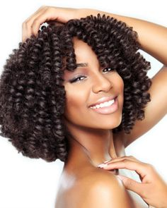 Pre-curled hair!! This is a perfect crochet style Saniya Curl