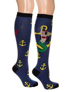 Sailors Bait Mermaid Knee Socks at PLASTICLAND