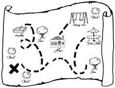 Tuesday Kid Craft/Party Craft | Tangarang  Templates for Treasure Map DIY