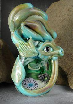 Handmade Lampwork Sea Dragon Bead  Mairsile   by marylockwood, $99.00