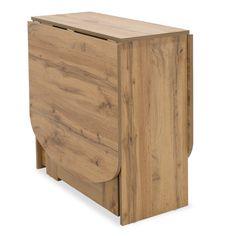 Τραπέζι Julian πολυμορφικό-επεκτεινόμενο χρώμα sonoma 80x37x75,5εκ Magazine Rack, Dining, Storage, Furniture, Home Decor, Products, Greece, Purse Storage, Food