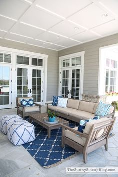 Outdoor Entertaining Area!  Details and Decor.  (Sunny Side Up)