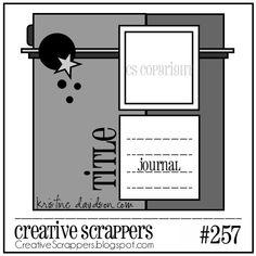 Creative Scrappers Sketch 257 - Scrapbook.com