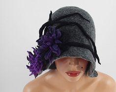 Felted Hat Cloche Hat grey Flapper hat LA BELLE EPOQUE от filcant