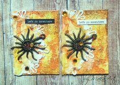 """My ATC Set """"Golden Sun"""" Na ScrapShop.sk bola vyhlásenáoktóbrová challenge. Téma má názov  *Jeseň, pani bohatá, farbí listy do zlata...*   a je potrebnézhotoviť..."""