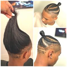 Trust in YOUR Dopeness✊? Braids on my Newest Baby Hope you have a Blast for your BDay‼️? Trust in YOUR Dopeness✊? Braids on my Newest Baby Hope you have a Blast for your BDay‼️? Cornrow Hairstyles For Men, My Hairstyle, Ethnic Hairstyles, Hairstyles Videos, Hairstyles 2018, Braid Styles For Men, Braided Man Bun, Braids For Boys, Curly Hair Styles