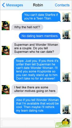 DC and Justice League dating policy -- Texts From Superheroes