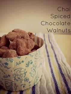 Chai Spiced Chocolate Walnuts