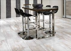 Petrified wood meets stone in our IKON porcelain floor and wall tile collection! by giotile
