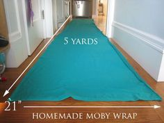 Make your own moby wrap from muslin - 5m makes 2.