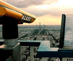 Paris, France's tallest skyscraper, the 59-story Maine-Montparnasse Tower in the 14th Arrondissement. Visitors to the 56th floor's restaurant and observation deck are treated to gorgeous 25-mile views of the city.