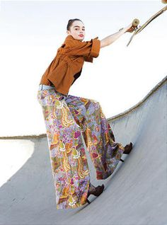 Editorial #Skateboard Fashion Aver Report | Eliza Magazine, Skate Park Editorial, photo by Maria Carmel