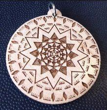 "Shield Of Archangel Michael Maplewood pendant 1.75"" Necklace #unisex #gift"