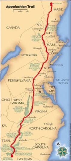 The terminus of the Appalachian trail - Mt. Katahdin.