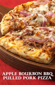 What makes this pizza so unbelievably delicious? Using leftover pulled pork that's been slow-cooked to perfection in a flavor-packed apple bourbon barbecue sauce. It delivers big bold flavor that's guaranteed to become a pizza night favorite! Best of all, it's ready in just 25 minutes. #CampbellSauces