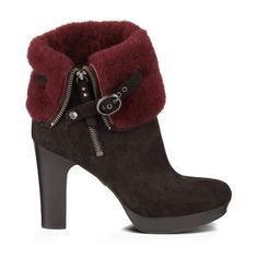 Scarlett ($250) ❤ liked on Polyvore featuring shoes, boots, ankle booties, heels, booties, ankle boots, genuine leather boots, heeled bootie, heeled ankle booties and short heel boots