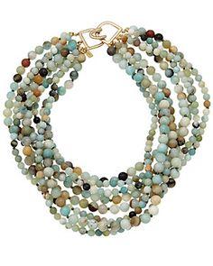 Stephen Dweck Four-Strand Labradorite & Blue Quartz Necklace 6xyPgT