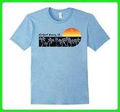 Mens Retro Newport Beach, CA T-shirt California Beach Shirt Large Baby Blue - Retro shirts (*Amazon Partner-Link)